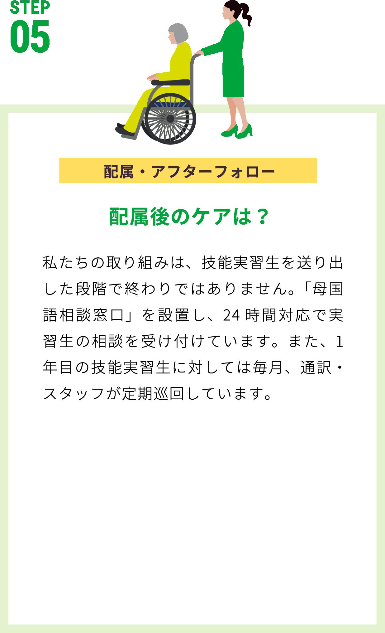 配属・アフターフォロー